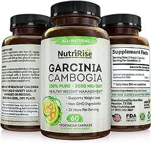 Garcinia Cambogia 3000 MG Supplement - 60 Capsules
