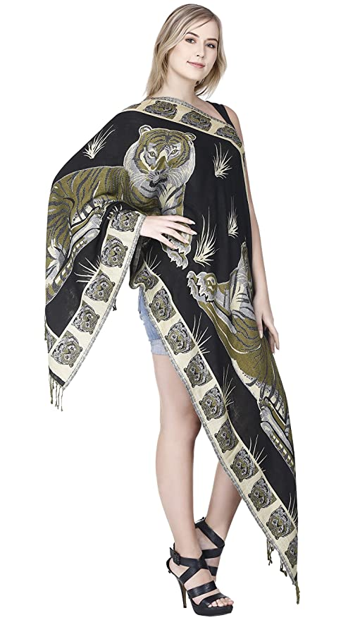 SKAVIJ Cashmere Head Scarf for Women Animal Print Chal Wrap para Vestidos de Noche: Amazon.es: Ropa y accesorios