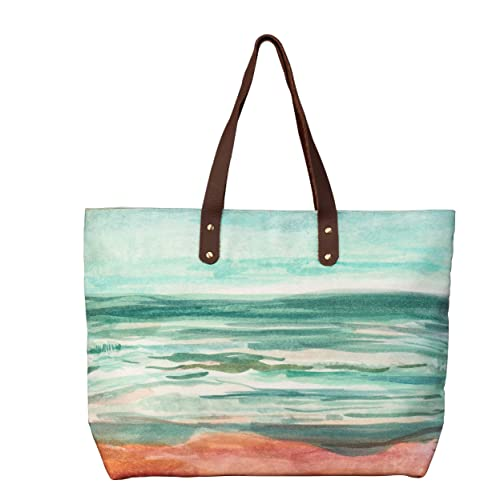 6fb95cf5ed24 Amazon.com: Studio M Elements Water-Seascape Women's Large Shoulder ...