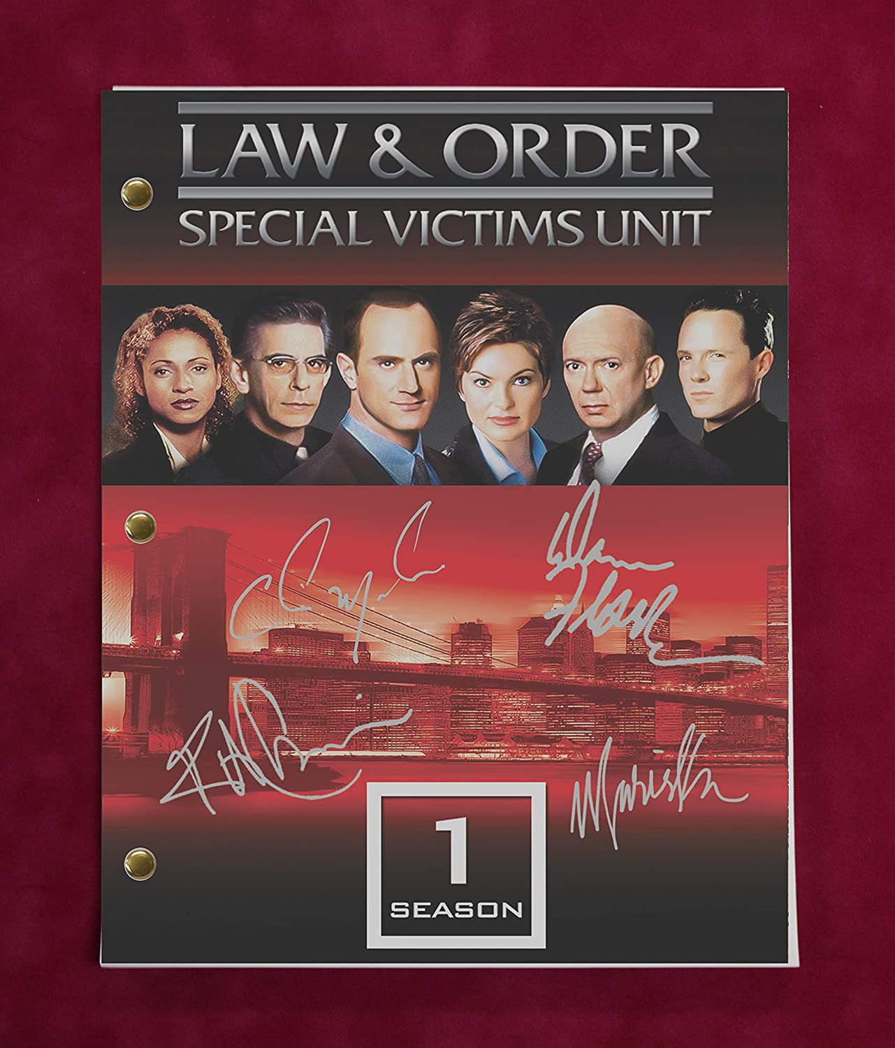 Law And Order Special Victims Unit TV Script w/Reproduction Signatures Olson, Ice-T, Meloni C3