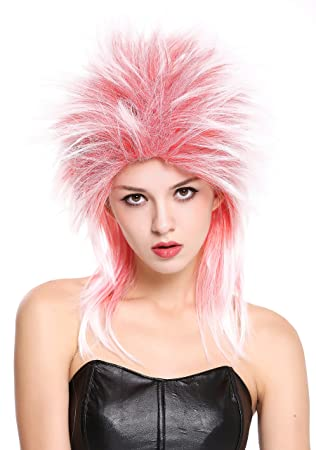 WIG ME UP ® - 90891-ZA13TZA60 Peluca Mujer Hombre Carnaval Halloween años 80 Punk