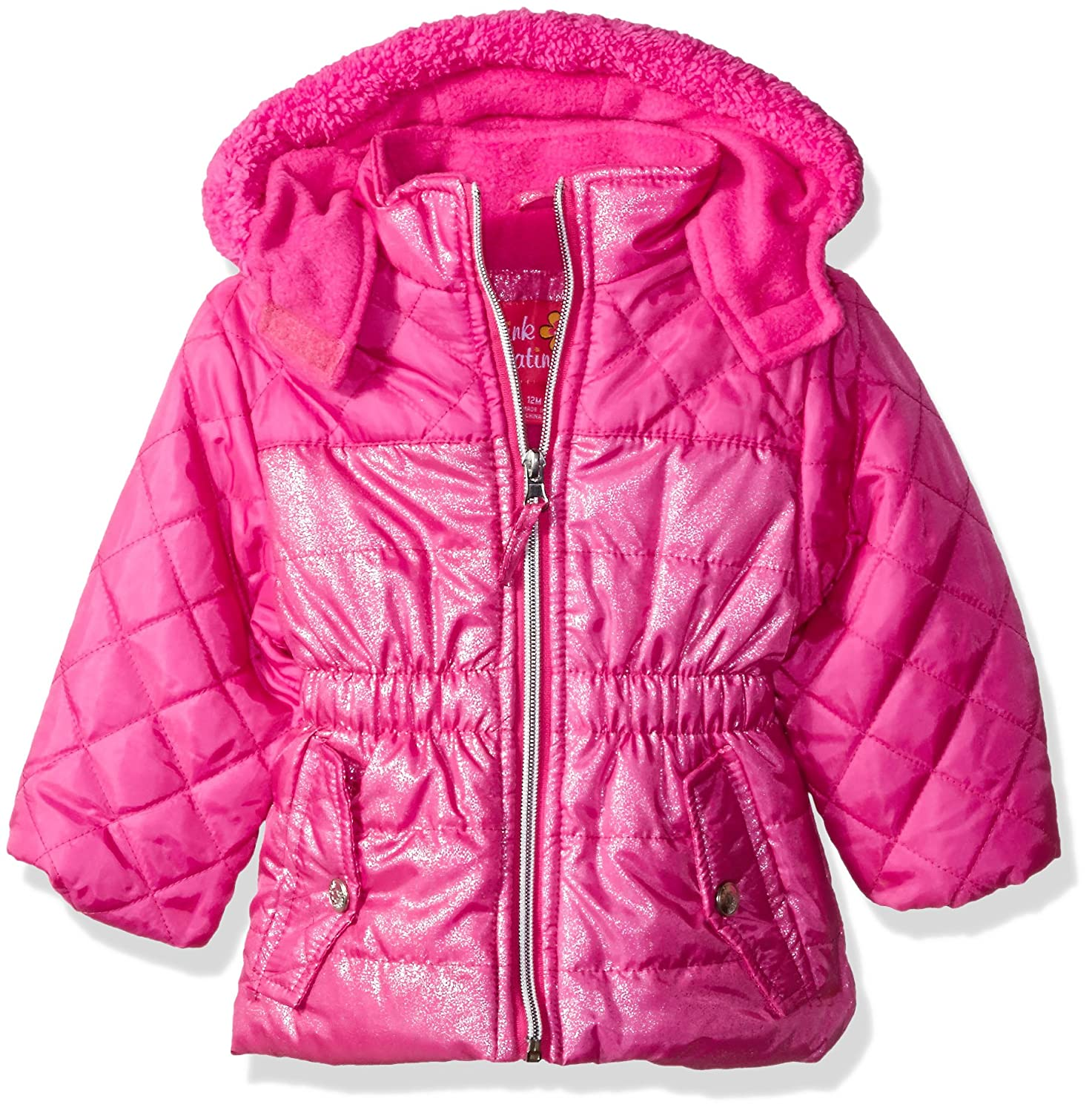 Pink Platinum Baby Girls' Infant Quilted Puffer Jacket Mixed Spray Foil 74288I