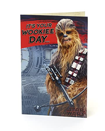 Amazon Star Wars The Last Jedi General Birthday Card Its Your