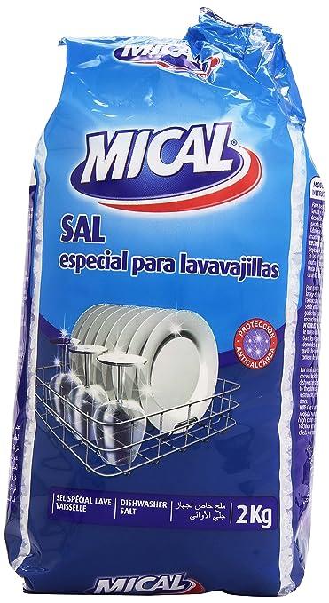 Mical - Sal - especial para lavavajillas - 2 kg: Amazon.es ...