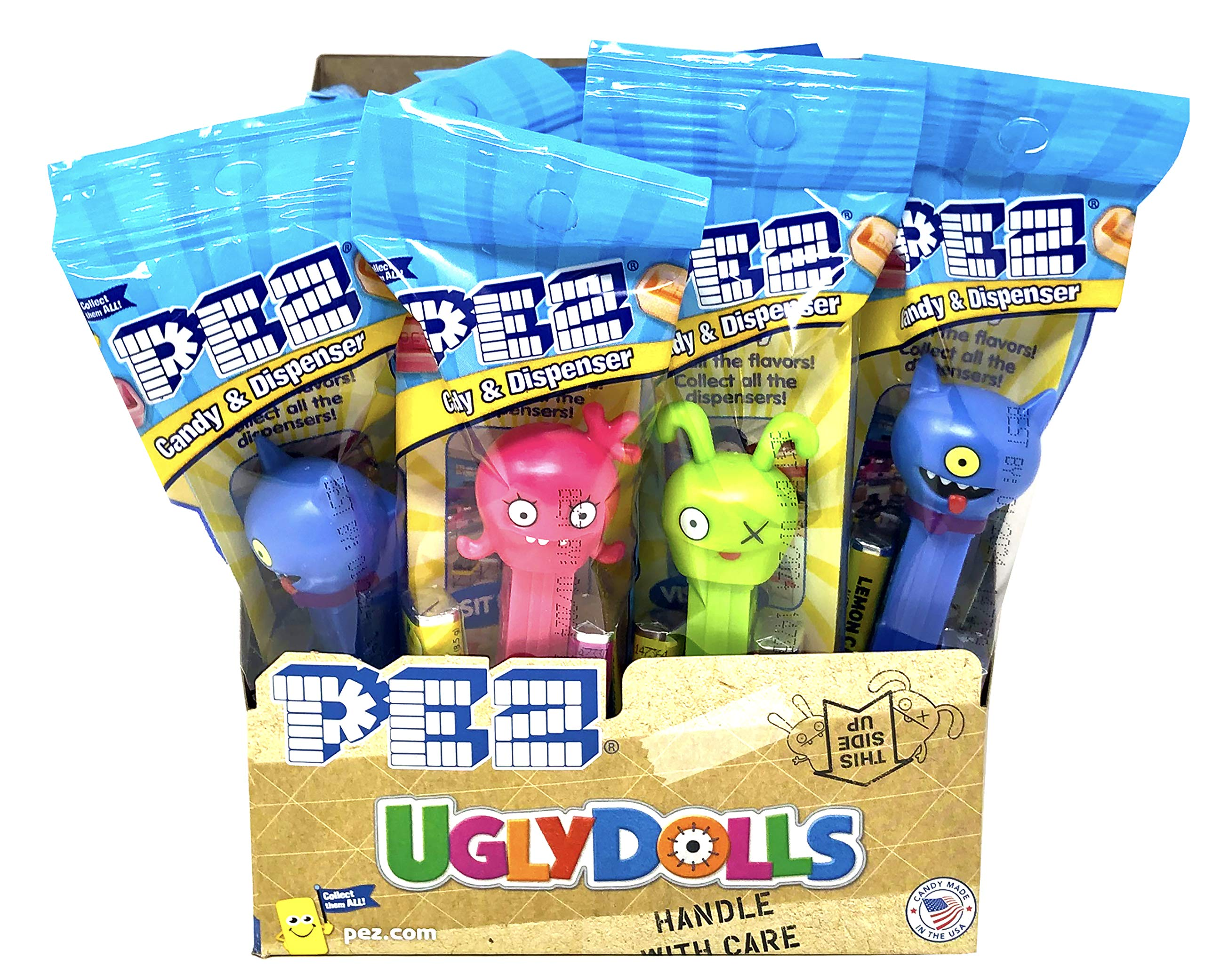 Pez Ugly Dolls Dispensers Individually Wrapped Candy and Dispensers with Tru Inertia Kazoo (12 Pack)