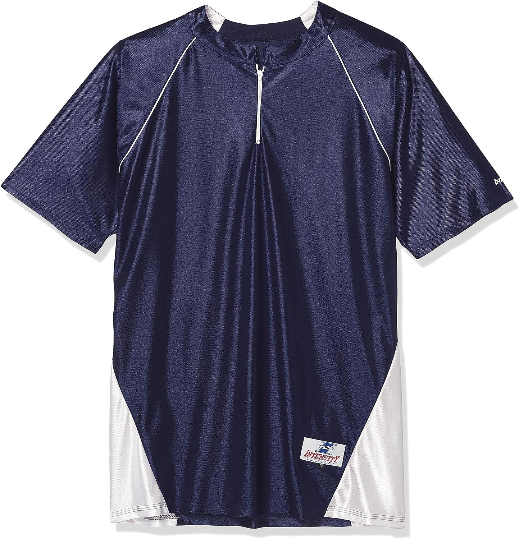 Intensity Mens 1//4 Zip Diamond Shooter Short Sleeve Top