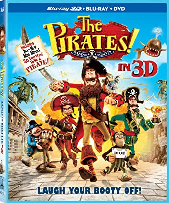 5453868e339b Amazon.com  The Pirates! Band of Misfits (Three-Disc Combo  Blu-ray ...