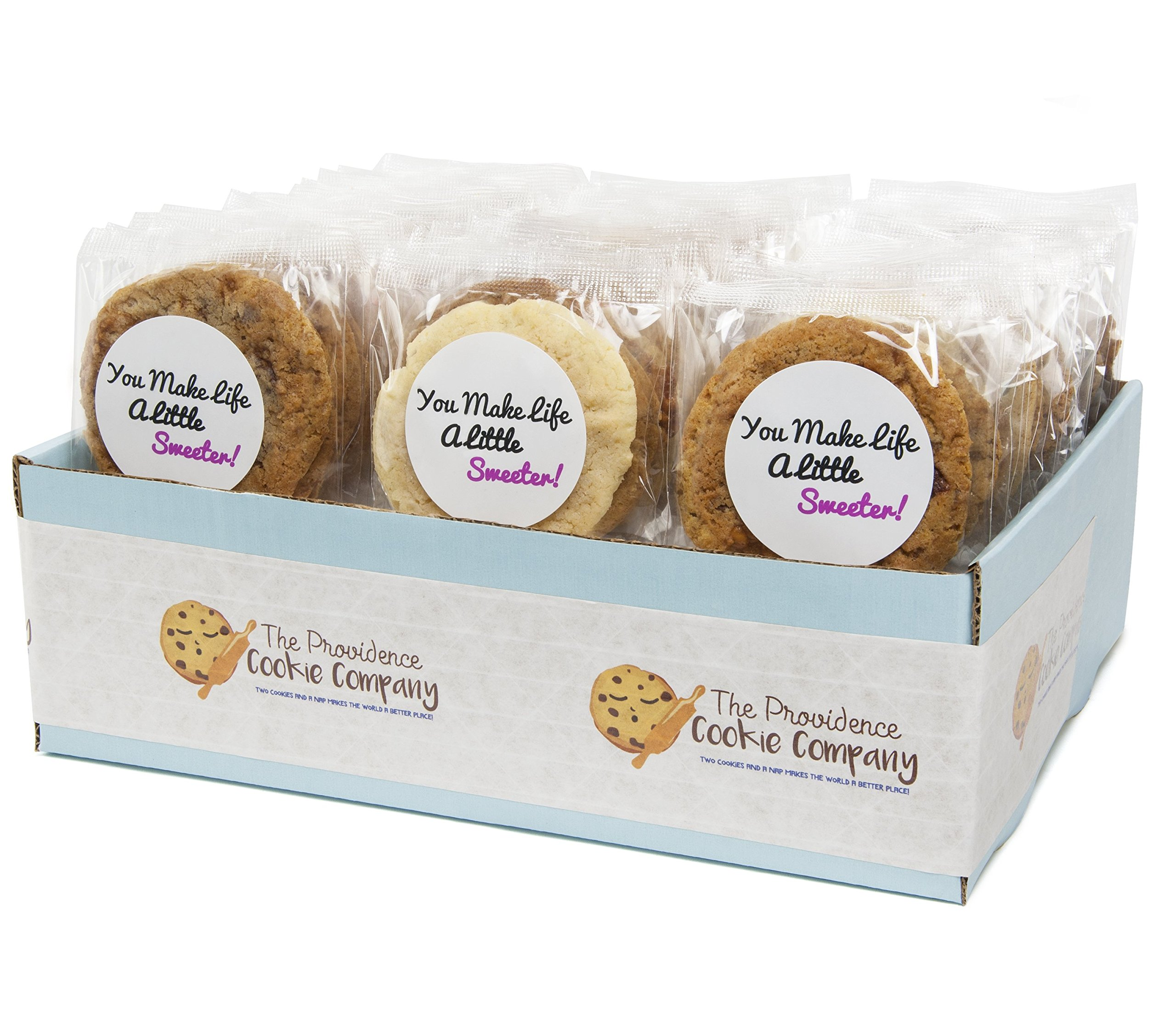 The Providence Cookie Company YOU MAKE LIFE SWEETER GOURMET COOKIE GIFT choose 1, 2 or 3 Dozen (1 Dozen)