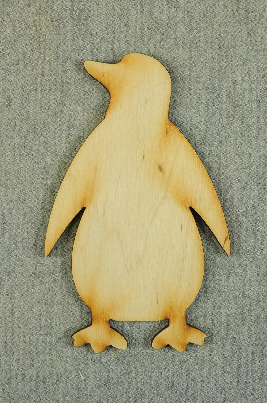 10er Pinguin Tiere blank Form Holz Basteln Dekoration Wasser Malen Aufh/ängen T-X54