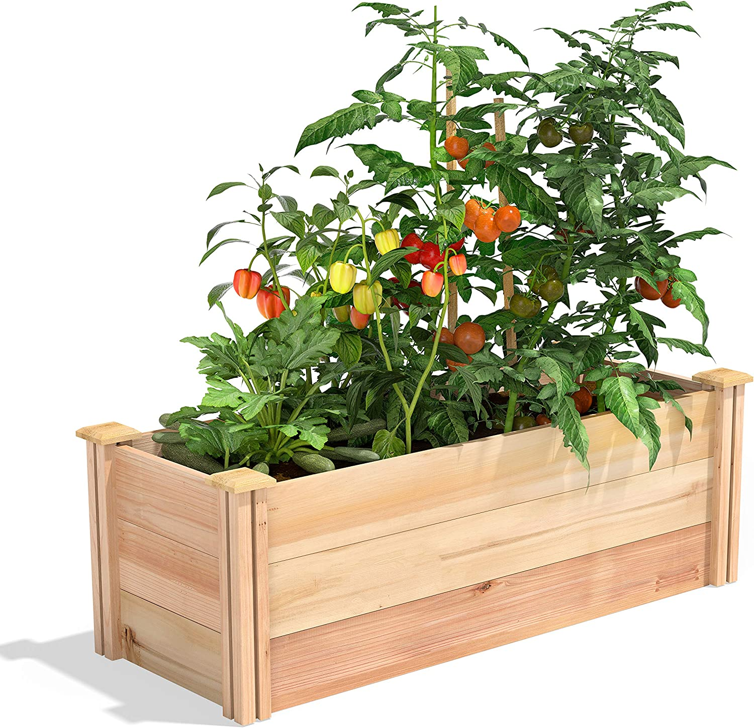 "Greenes Fence Premium Cedar Raised Garden Bed, 16"" x 48"" x 16.5"""