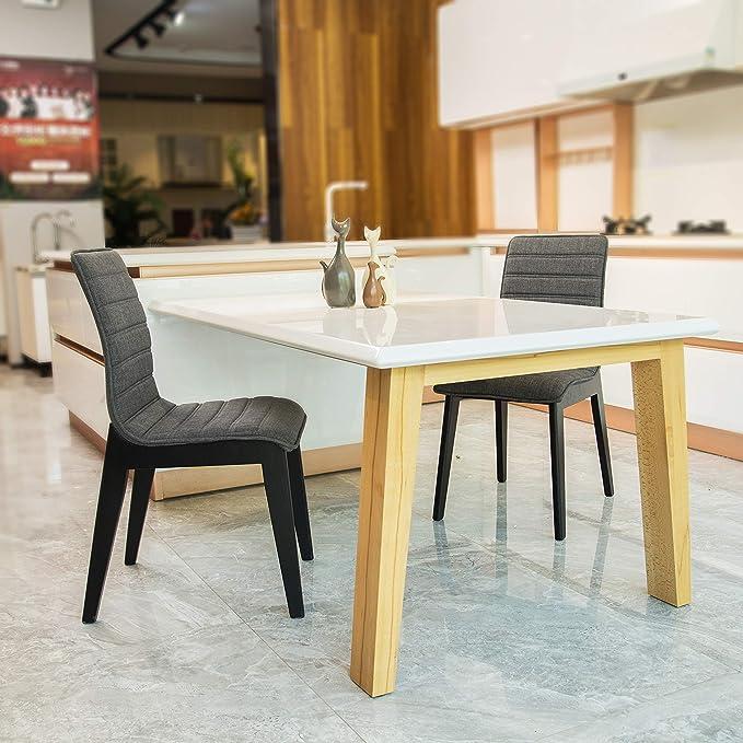 Amazon.com: FUNCASH - Juego de 2 sillas de comedor de tela ...