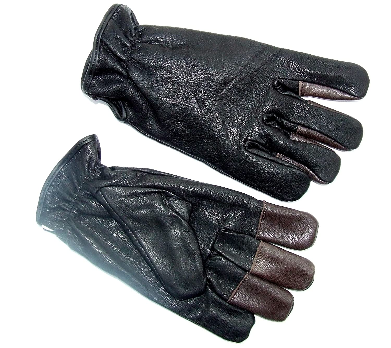 starlingukpkltd Quality Genuine Leather Fleece Lined All Weather Archery Gloves Shooting Gloves.
