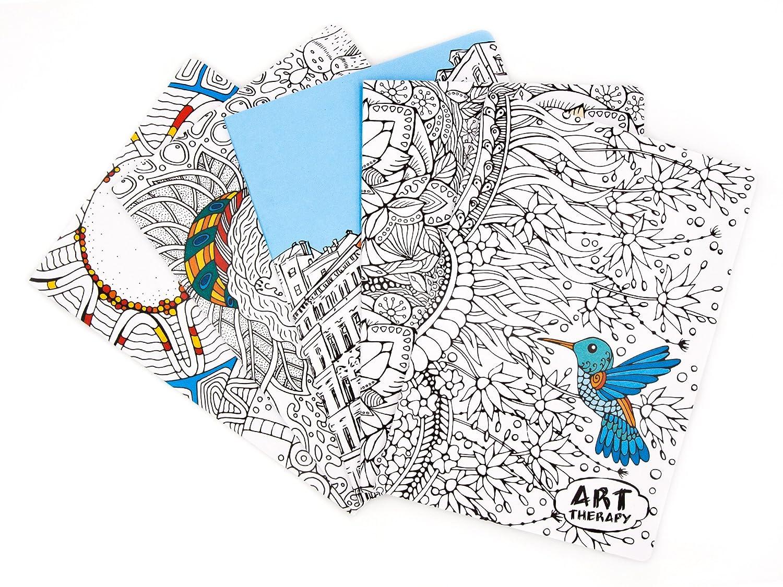 5 Maxi Quaderni Art Therapy quadretti 5mm, 5 copertine diverse ANDIAMO A COLORARE! Gruppo Spaggiari Parma