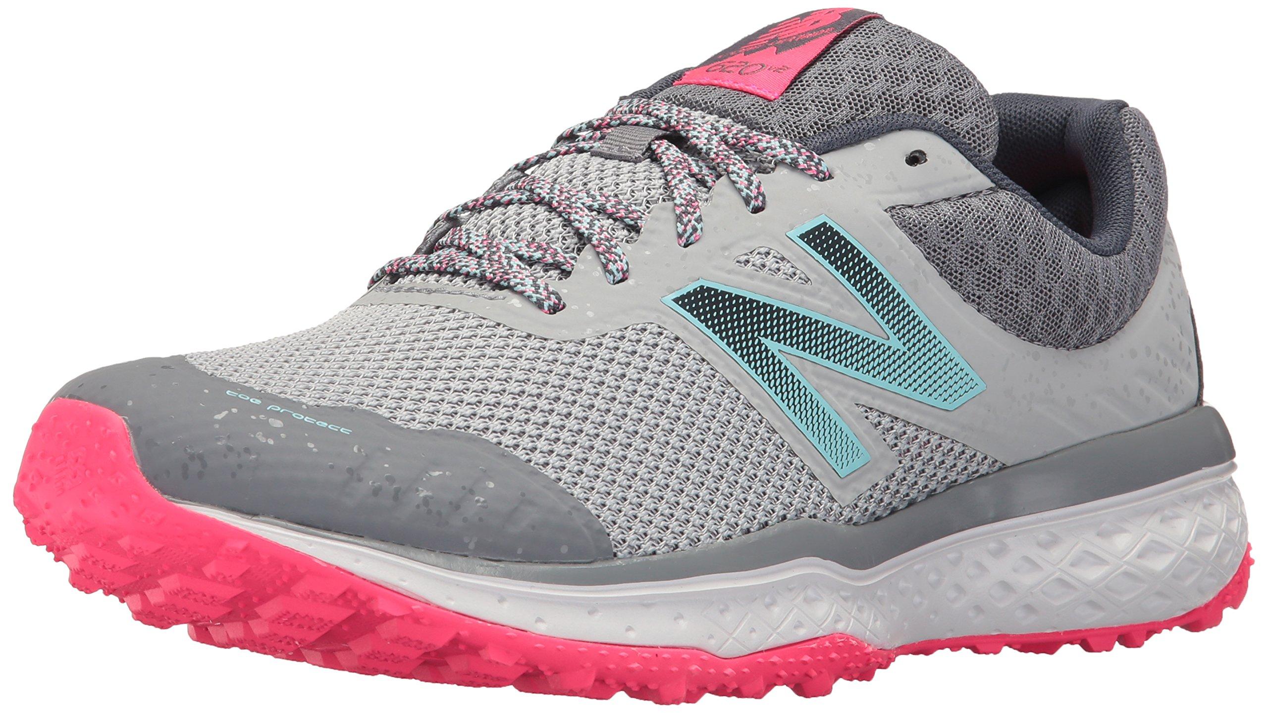 New Balance Women's Cushioning 620v2 Trail Running Shoe, Silver Mink/Gunmetal, 7.5 B US