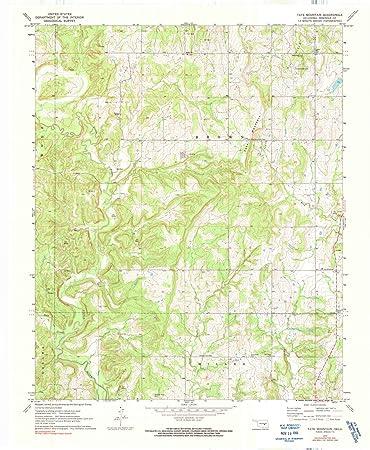 Amazon.com: Oklahoma Maps - 1972 Tate Mountain, OK USGS ...