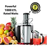 Gourmia GJ1250 Wide Mouth Juice Extractor & Maker - Equipped With Safety Lock & Dishwasher Safe - 32 Oz -1000W - Stainless Steel - ETL