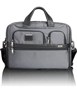 TUMI - Alpha 2 T-Pass Medium Screen Laptop Slim Brief Briefcase - 14 Inch