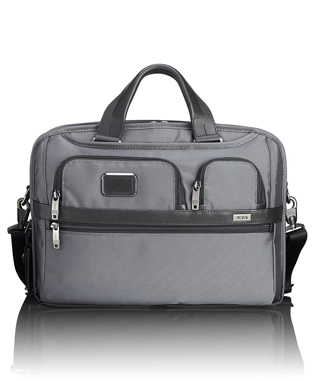 63d0eeac7706 TUMI - Alpha 2 T-Pass Medium Screen Laptop Slim Brief Briefcase - 14 Inch  Computer Bag for Men and Women - Pewter