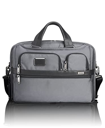00c22d577 Amazon.com | TUMI - Alpha 2 T-Pass Medium Screen Laptop Slim Brief Briefcase  - 14 Inch Computer Bag for Men and Women - Pewter | Briefcases