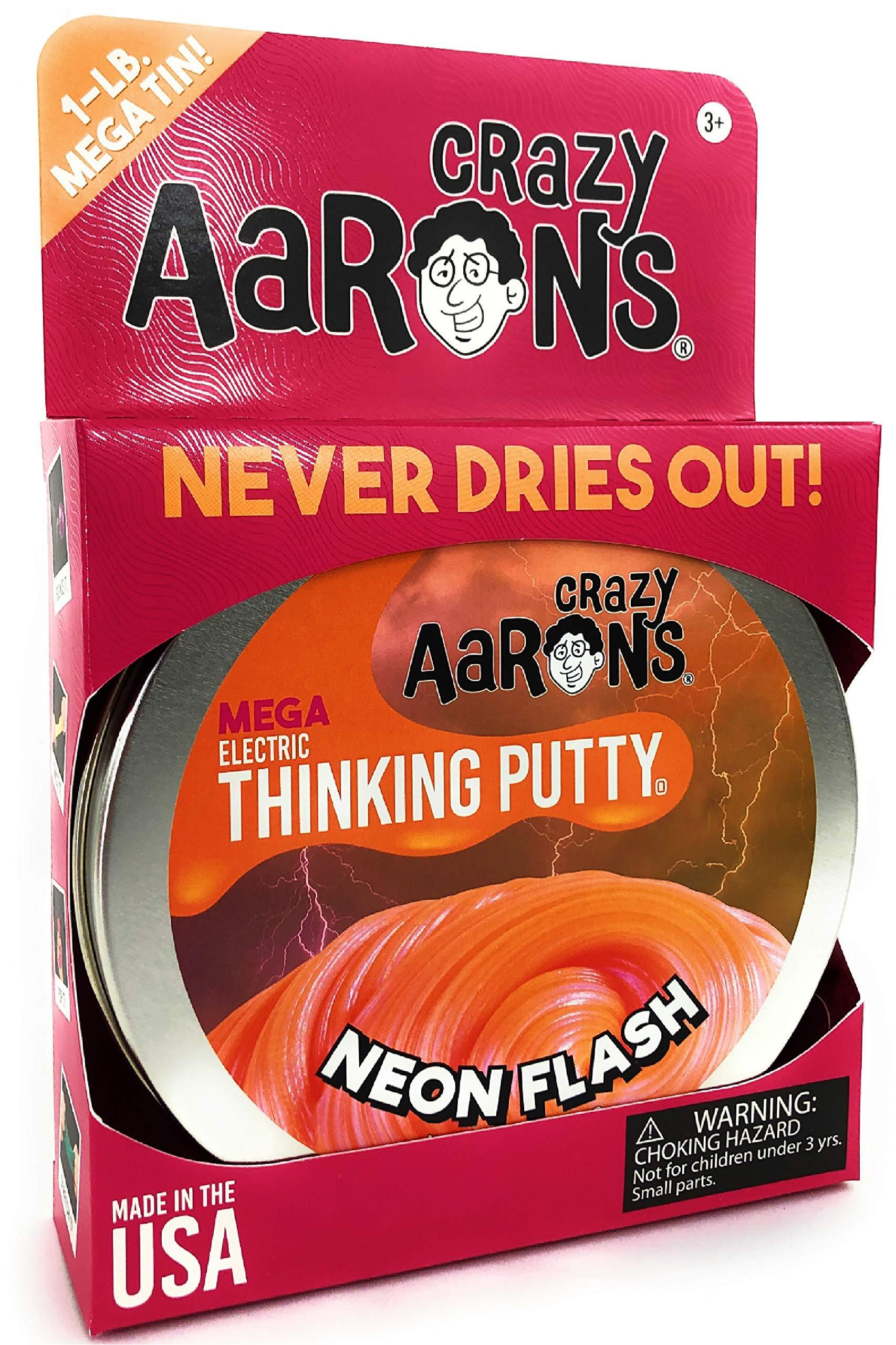 Crazy Aaron's Electric Thinking Putty MEGA Tin Neon Flash - 1 Pound (.16oz) by Crazy Aaron's (Image #3)