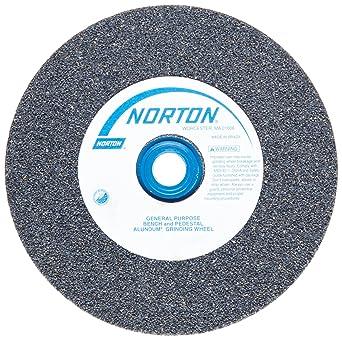 Type 01 Straight Grit Medium 60 6 Diameter x 3//4 Thickness Pack of 1 1 Arbor Aluminum Oxide Norton Premium White Bench and Pedestal Abrasive Wheel