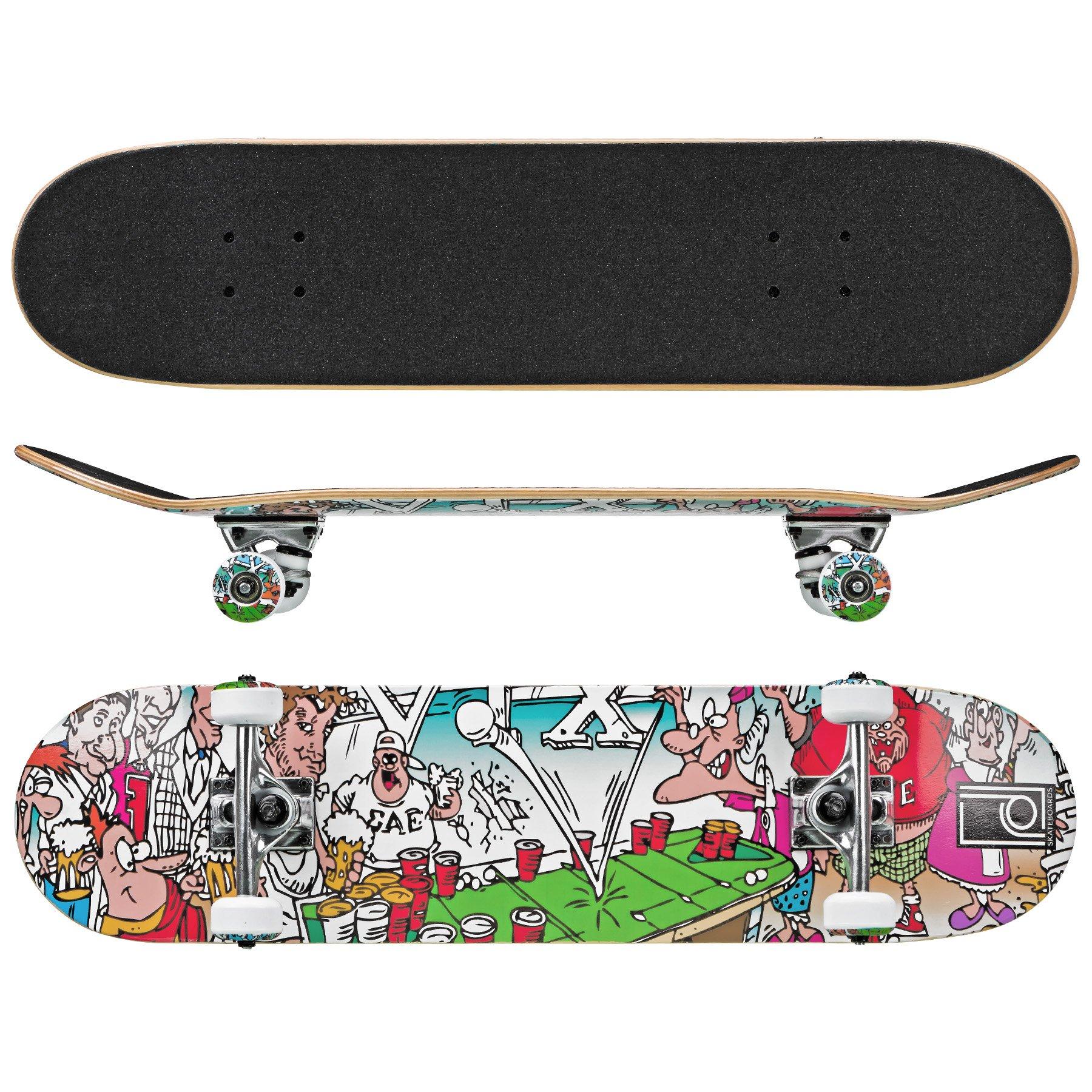 Roller Derby Rd Street Series Skateboard Frat House, Multi, 31' x 8'