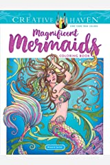 Creative Haven Magnificent Mermaids Coloring Book (Creative Haven Coloring Books) Paperback