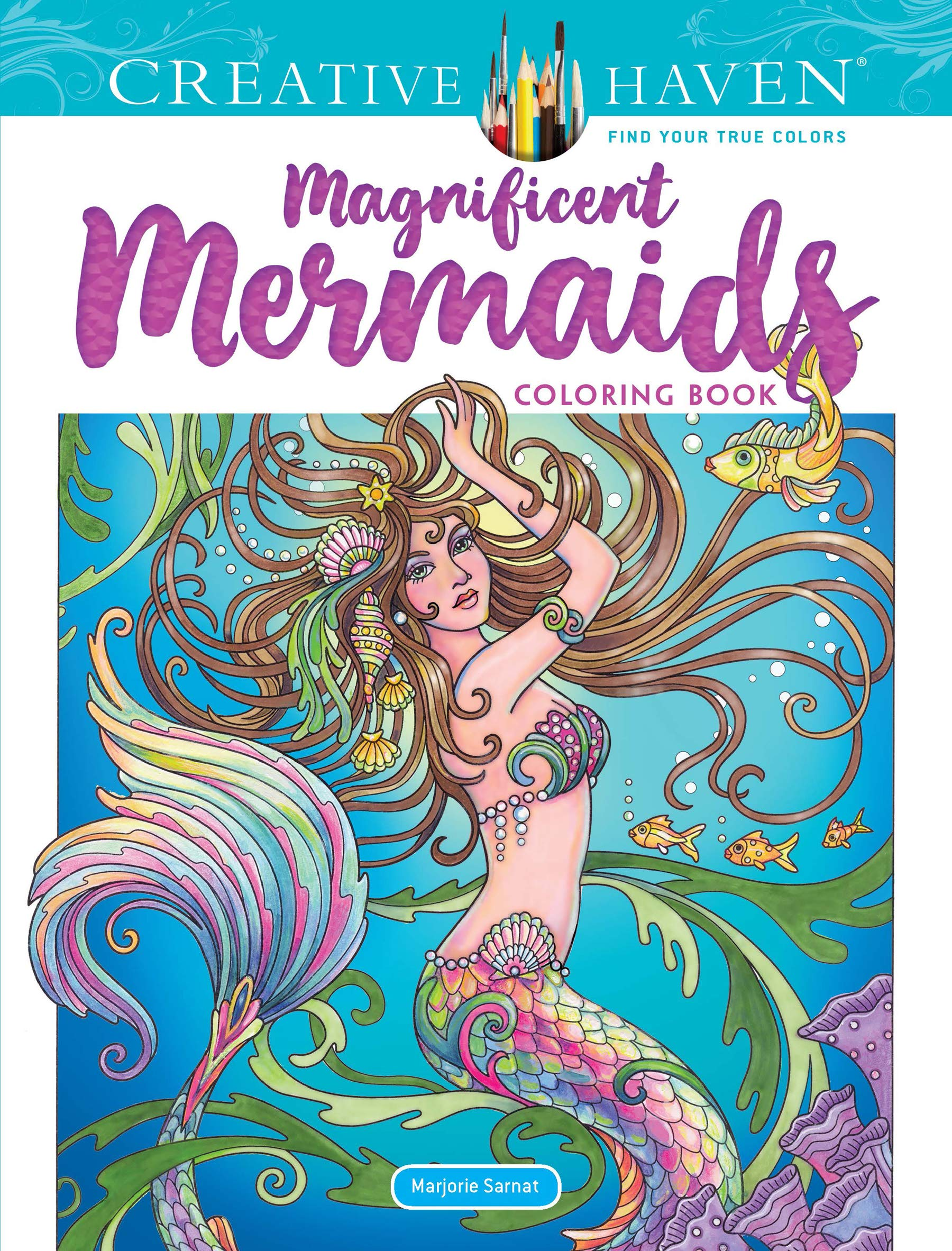 - Amazon.com: Creative Haven Magnificent Mermaids Coloring Book