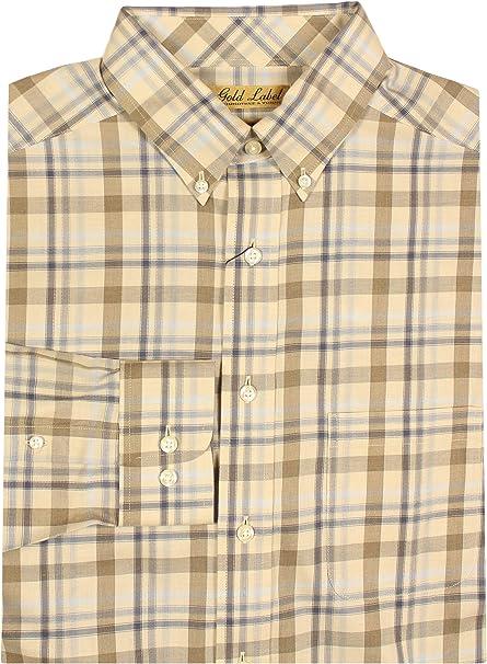 Men/'s Dress Shirt Big /& Tall Size 3XB White Checks Gold Label Roundtree /& Yorke