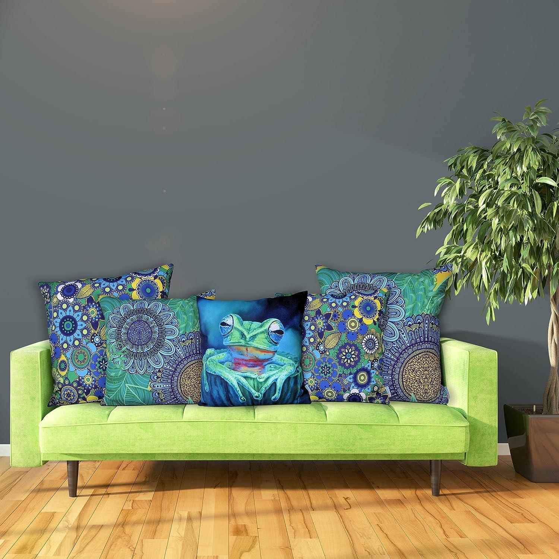 Cojín Decorativo Sunburst Outdoor Living FAIRY 50cm x 50cm (Con Borde) Funda Cojín para Sillón, Sofá, Cama o Patio – Solo Funda, Sin Relleno