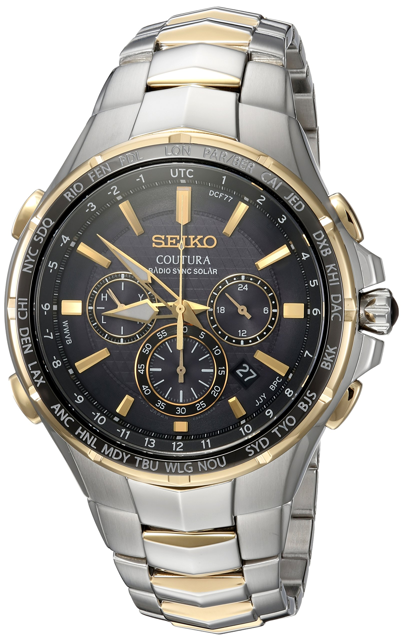 Seiko Men's SSG010 COUTURA Analog Display Japanese Quartz Two Tone Watch by SEIKO