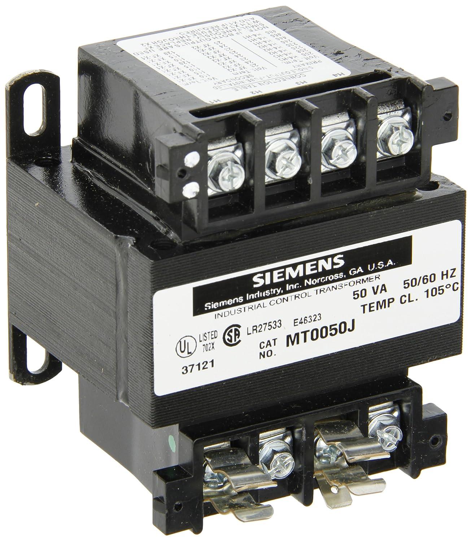 Siemens MT0050J Industrial Power Transformer, Domestic, 208/230/460, 200/220 /440, 240/480 Primary Volts 50/60Hz, 24 X 115, 23 X 110, 25 X 120 Secondary  ...
