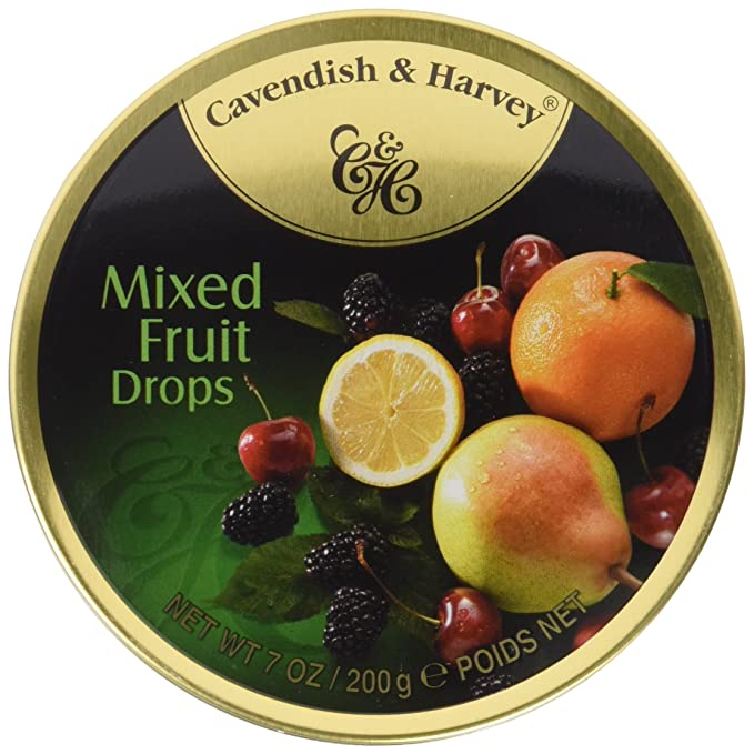 Cavendish Caramelos con Sabor a Diferentes Frutas - 1 Paquete de 9 x 22.22 gr -