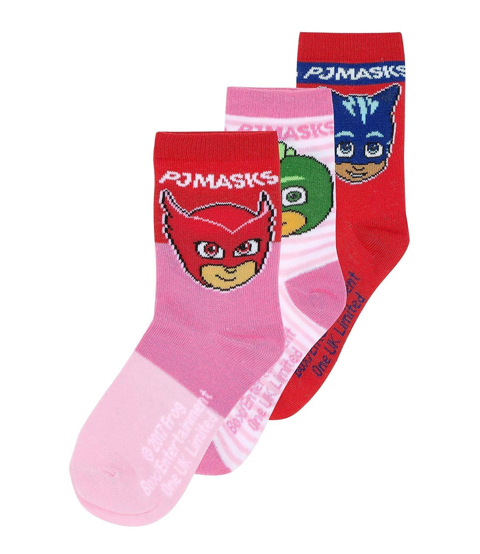 PJ Masks Chicas Calcetines (lote de 3) - fucsia