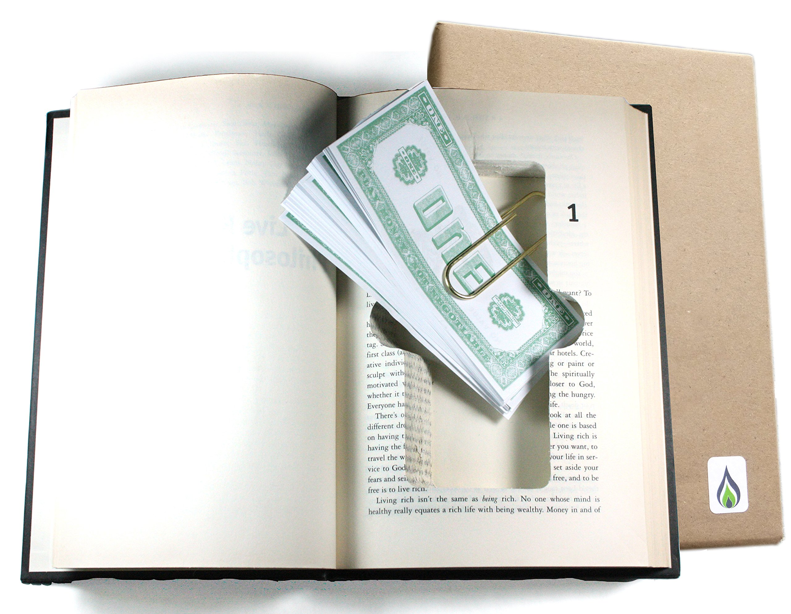 SneakyBooks Recycled Hollow Book Money Diversion Safe (money clip included) by SneakyBooks