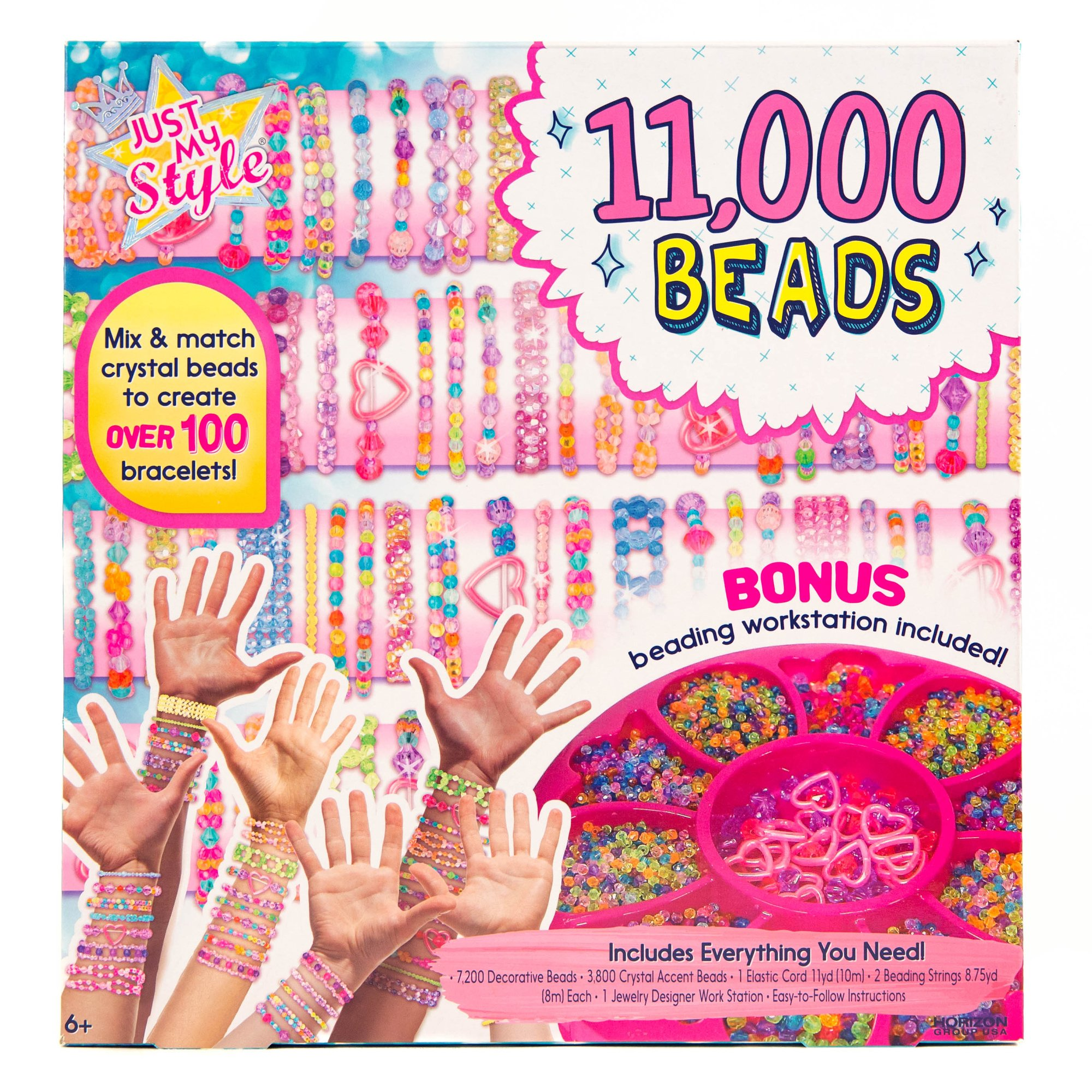 Just My Style 11, 000 Beads Bracelet Making Kit by Horizon Group USA by Just My Style