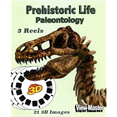 Prehistoric Life - Paleontology - Classic ViewMaster - 21 3D Images - New: Toys & Games