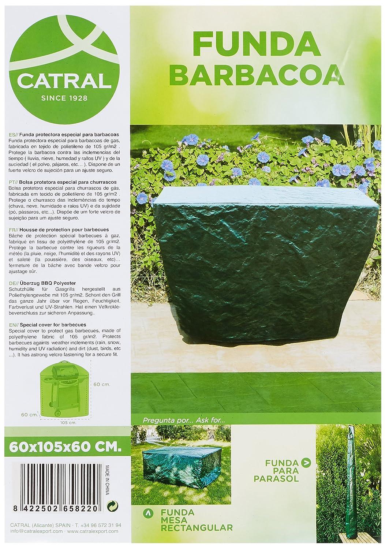 Catral 53010032 - Funda para grill, 60 x 60 x 105 cm, color verde oscuro: Amazon.es: Jardín