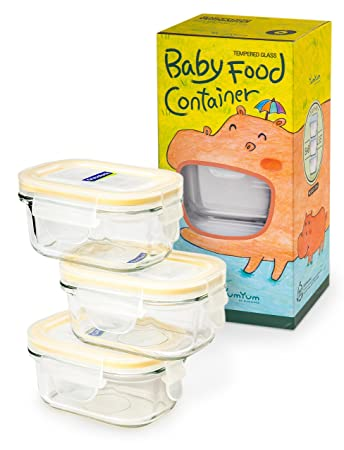 Glasslock 6pcs Set Yum Yum Eco Friendly Airtight Spill Proof Baby Meal Food Storage Container Rectangular  sc 1 st  Amazon.com & Amazon.com: Glasslock 6pcs Set Yum Yum Eco Friendly Airtight Spill ...
