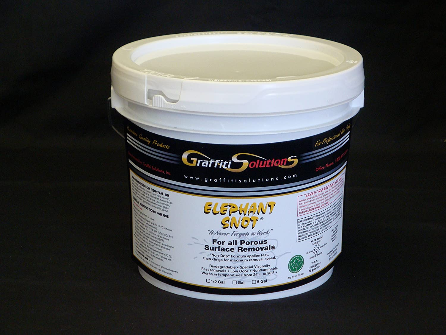 Elephant Snot Graffiti Remover 1 Gal Used By Professionals on Porous Surfaces for Exceptional Graffiti Removal of spray paint, marking pens, difficult to remove 2-part paint, epoxy, urethane and more Graffiti Solutions ESGR-1