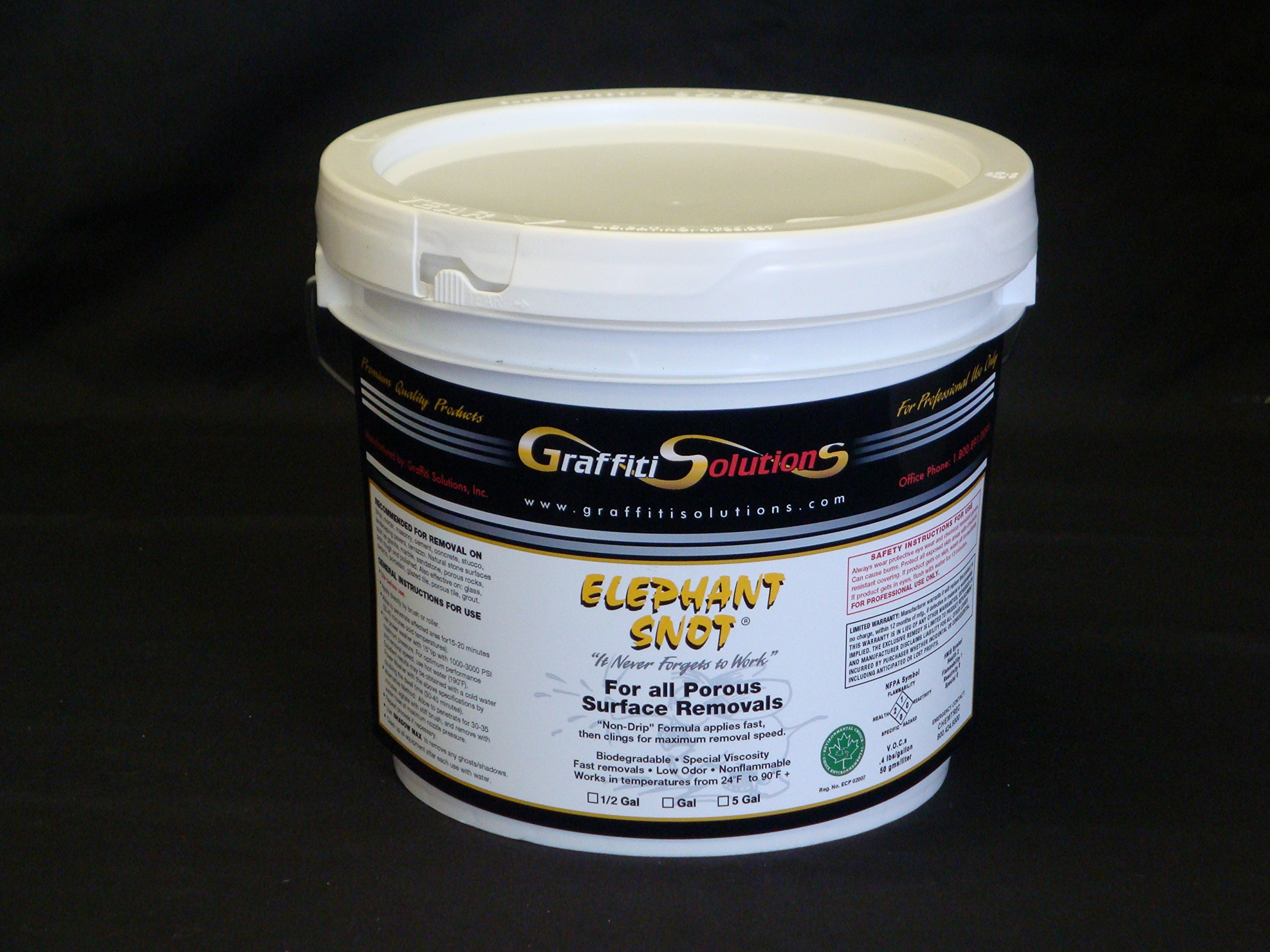 Elephant Snot Graffiti Remover 1 Gal Used By Professionals on Porous Surfaces for Exceptional Graffiti Removal of spray paint, marking pens, difficult to remove 2-part paint, epoxy, urethane and more