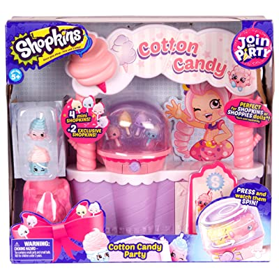 Shopkins Join the Party Playset - Cotton Candy Party: Toys & Games