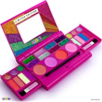Kids Makeup Palette For Girl – Real Washable Kids Makeup - My First Princess Make Up Set Include 4 Blushes, 8 Eyeshadows…