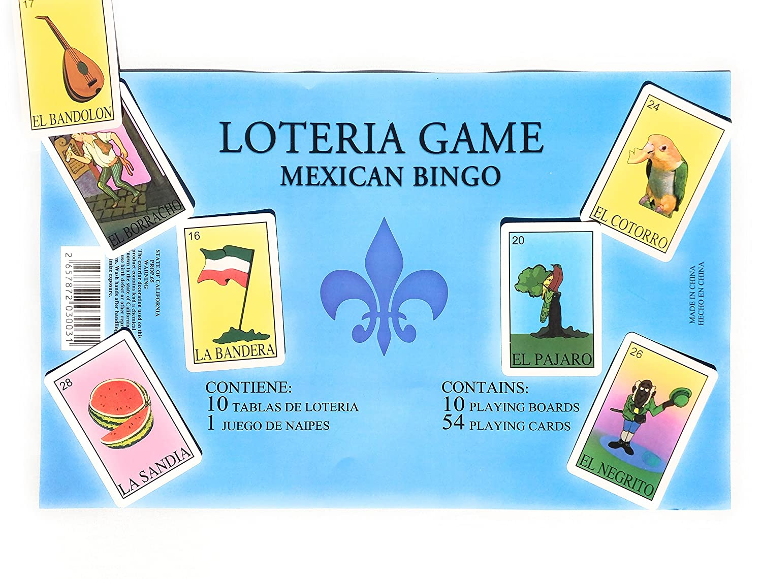 Amazon.com: Traditional Mexican Loteria - Jumbo Mexican Lottery ...