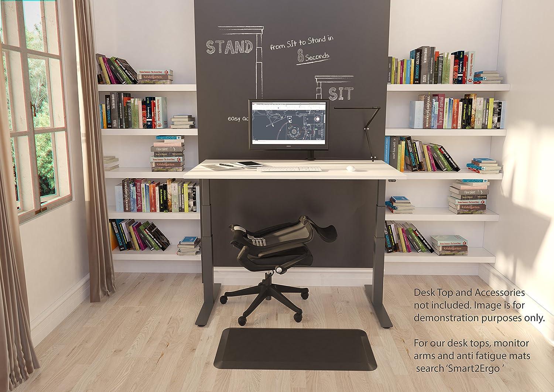 Electronic Sit Stand Desk Frame ONLY (Black) Height Adjustable ...