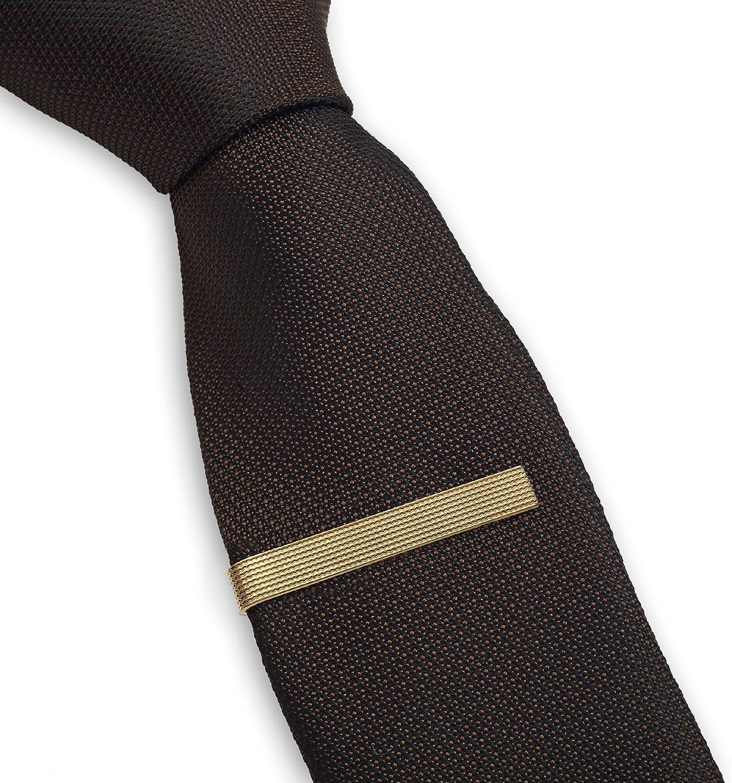 Set de 3 Pc Pasador de Corbatas 5.4 cm Pisacorbatas, Tono Plateado, Dorado y Negro Textura en Caja de Regalo: Amazon.es: Joyería