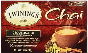 Twinings Tea Chai Tea, Decaf, 20 ct