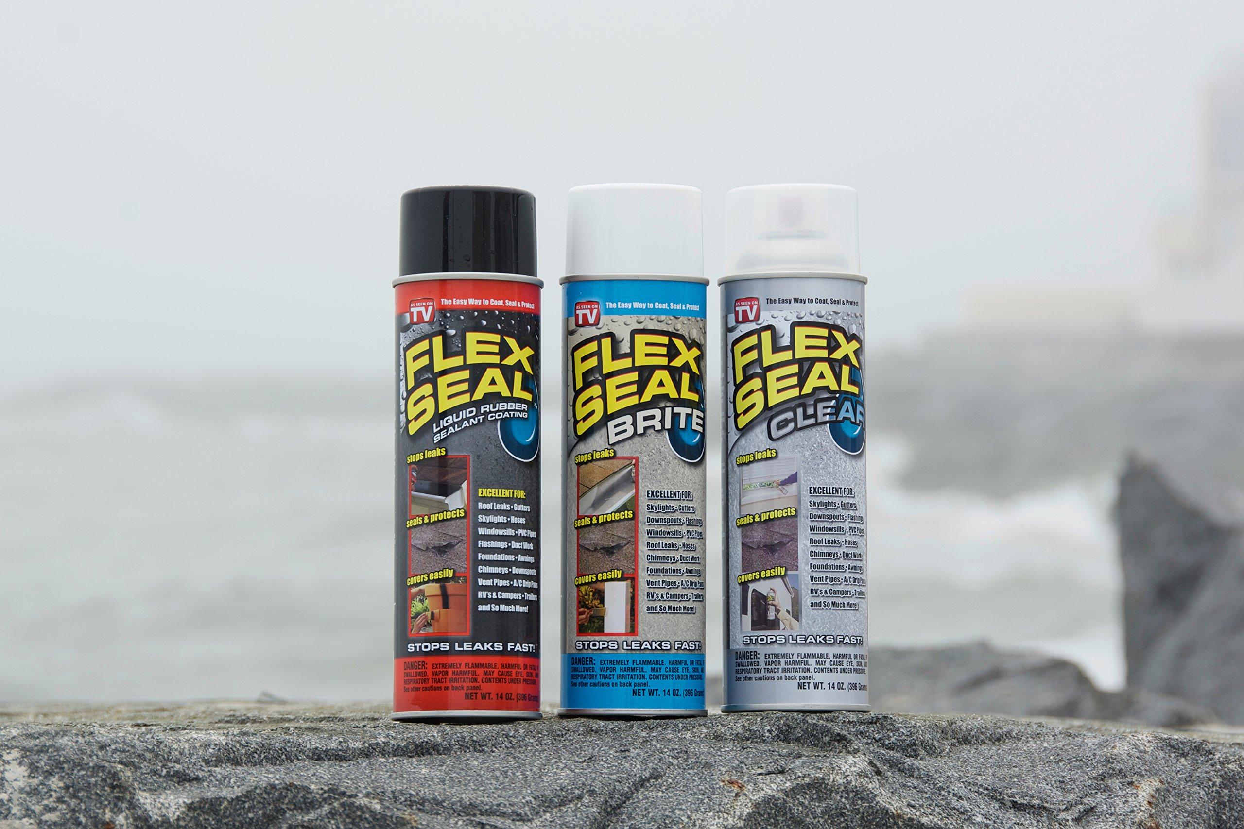 Flex Seal Spray Rubber Sealant Coating, 14-oz, Clear (2 Pack