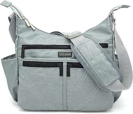 Voyanni Crossbody Bags for Women RFID AntiTheft Travel Purse Multi-Pocket Nylon Lightweight
