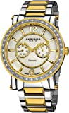 Akribos XXIV Men's 'Ultimate' Swiss Diamond Watch - Krysterna Crystals on Bezel - 2 Subdials for Day and Date On…